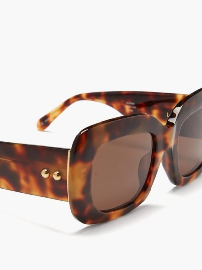 LINDA FARROW Lavinia tortoiseshell-acetate sunglasses / 60s style chunky framed sunnies / chic eyewear