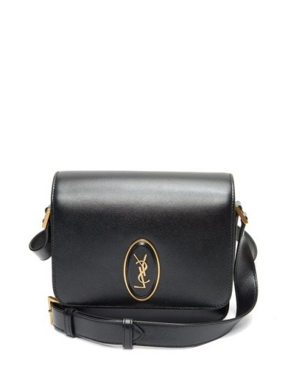 SAINT LAURENT Le 61 leather cross-body bag ~ small black crossbody - flipped