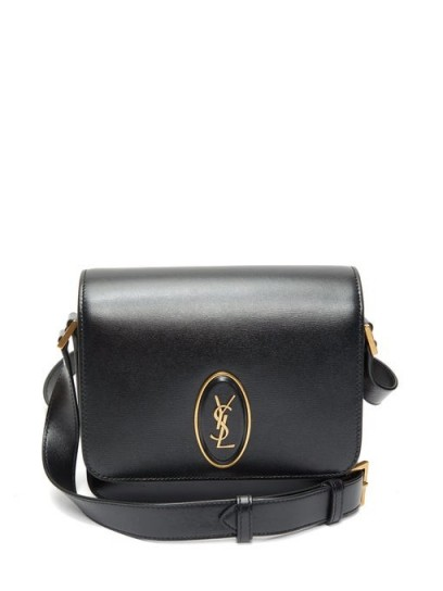 SAINT LAURENT Le 61 leather cross-body bag ~ small black crossbody