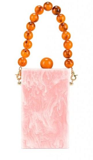 Lele Sadoughi Kingsley Bag Rose Quartz / pink acetate box bags - flipped