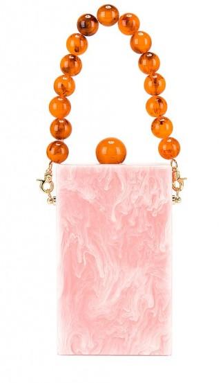 Lele Sadoughi Kingsley Bag Rose Quartz / pink acetate box bags