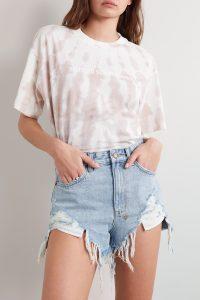 KSUBI Rise N Hi distressed denim shorts | destroyed hems