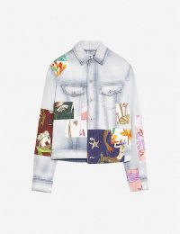 LOEWE Loewe x Paula's Patches denim jacket ~ sea print patch jacket