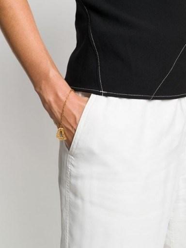 LOVENESS LEE Cory textured-charm bracelet ~ delicate chain bracelets ~ charm pendant jewellery - flipped
