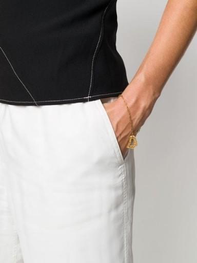 LOVENESS LEE Cory textured-charm bracelet ~ delicate chain bracelets ~ charm pendant jewellery