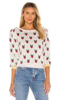 LoveShackFancy Strawberry Top / lace trim tops / strawberries