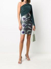 Maisie Wilen contrast one shoulder dress