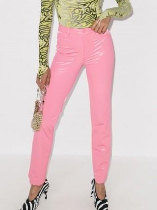 Maisie Wilen Galleria Latex Trousers ~ bubblegum pink pants