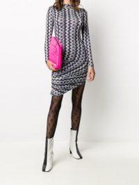Maisie Wilen graphic-print asymmetric dress