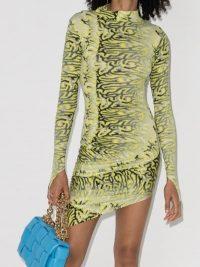 Maisie Wilen Orbit City Bodycon Mini Dress ~ fitted yellow dresses