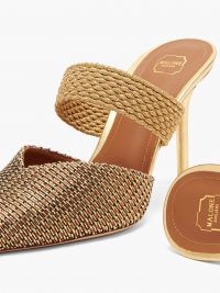 MALONE SOULIERS Maisie woven-Lurex mules