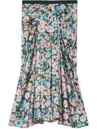 Marc Jacobs The 40's floral-print silk skirt / pleat detail skirts