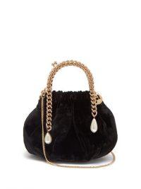 ROSANTICA Maria Luisa chain-handle velvet clutch ~ vintage look event bags