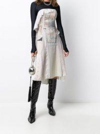 Marine Serre layered floral-print dress
