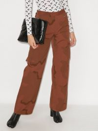 Marine Serre regenerated military track style trousers