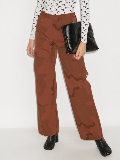 Marine Serre regenerated military track style trousers - flipped