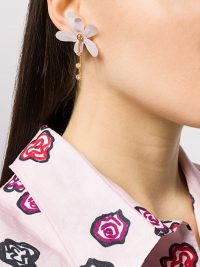 Marni crystal-embellished floral earrings ~ delicate drops ~ feminine style accessories