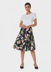 HOBBS MELINA SKIRT NAVY MULTI / full circle skirts / fruit print fashion