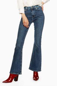 Topshop Mid Stone Flared Jamie Skinny Jeans