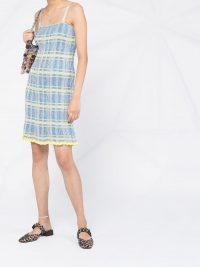 MISSONI fitted glitter checkered dress