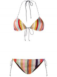 MISSONI MARE striped bikini set ~ multicoloured bikinis