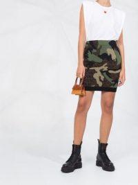 Moschino camouflage knitted mini skirt