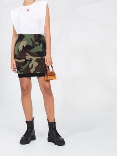 Moschino camouflage knitted mini skirt - flipped