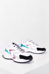 NASTY GAL MULTI PANEL SNEAKERS – metallic paneled trainers