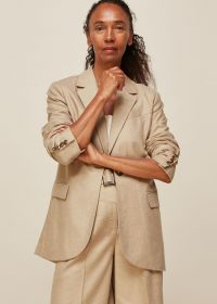 Whistles LIMITED EDITION TAILORED NEUTRAL JACKET | summer outerwear