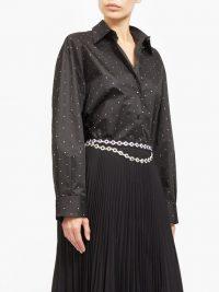CHRISTOPHER KANE Oversized crystal-embellished shirt ~ sparkling black shirts