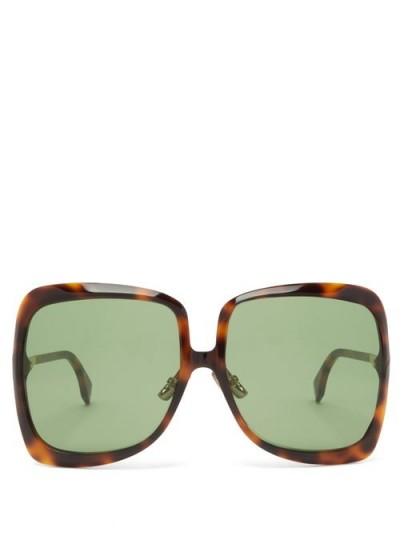 FENDI Oversized tortoiseshell sunglasses ~ large sunnies