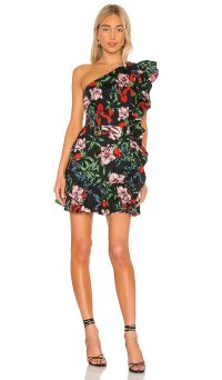 Pam & Gela Bali High Side Ruffle Mini Dress – ruffled edge dresses