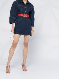 Philosophy Di Lorenzo Serafini denim mini dress ~ voluminous sleeve dresses
