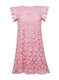 MISS SELFRIDGE Pink Tiered Lace Mini Dress