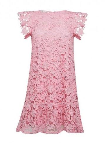 MISS SELFRIDGE Pink Tiered Lace Mini Dress - flipped