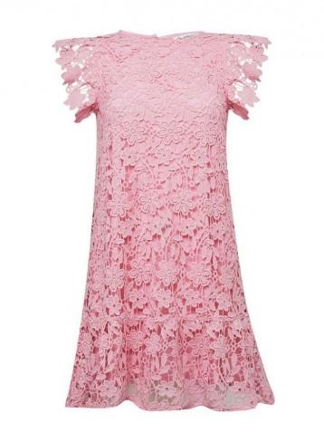 MISS SELFRIDGE Pink Tiered Lace Mini Dress