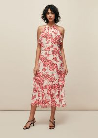 WHISTLES DEVINA DIAGONAL FLORAL DRESS ~ summer occasion dresses