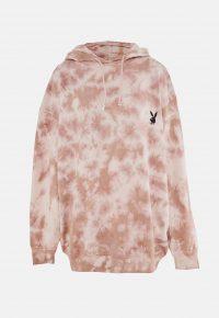 playboy x missguided stone tie dye oversized hoodie dress