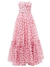 DOLCE & GABBANA Pink polka-dot corset silk-organza gown ~ stunning Italian gowns