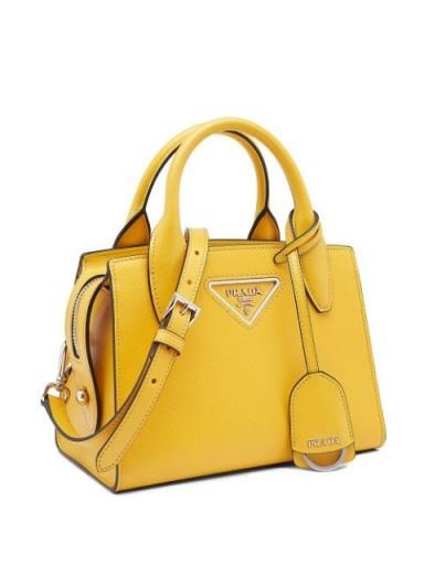 PRADA logo tote bag in sunny yellow