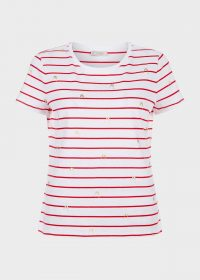 HOBBS PRINTED PIXIE TEE ~ striped summer t-shirts