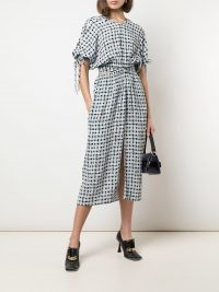 Proenza Schouler White Label gingham check cut-out dress