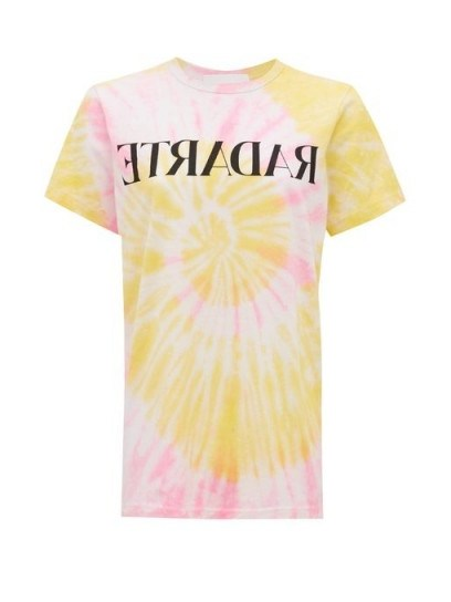 RODARTE Radarte tie-dye jersey T-shirt / yellow and pink tee - flipped