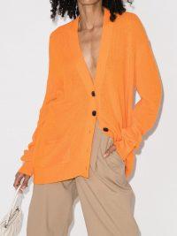 RE/DONE orange oversized 90s style cardigan