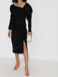 Rejina Pyo Andi Asymmetric Neck Mini Dress ~ ruched dresses