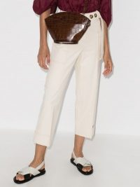 Rejina Pyo Sadie Straight Leg Cropped Trousers ~ neutral cropped pants