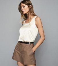 REISS REMEY SILK FRONT VEST WHITE ~ essential summer vests