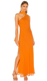 Ronny Kobo Jackie Dress Orange / chic maxi / evening event dresses
