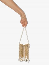 Rosantica Oasis Arcadia gold-tone pearl shoulder bag ~ luxe mini evening bags ~ event glamour