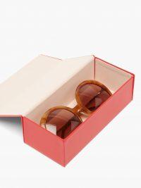 FENDI Round tortoiseshell-acetate sunglasses | designer eyewear